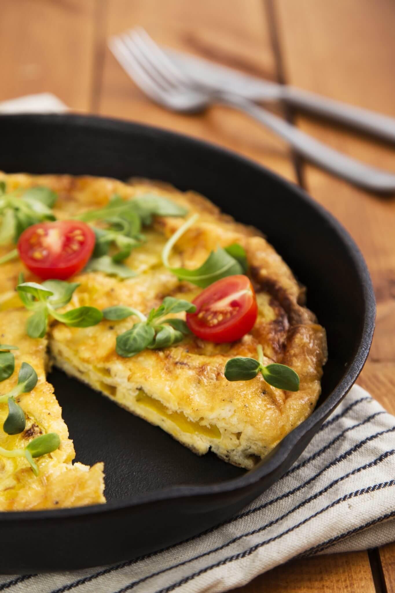 Tortilla z kabaczka i sera owczego